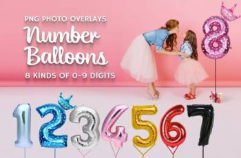 80 Number Balloons Photo Overlays 5224487 3