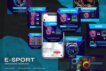 ESport & Gaming Instagram Template V.08 QX4F89D 1
