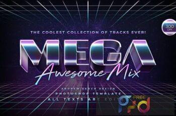 Mega - 80s Retro Text Effect 4UATWQ3 8