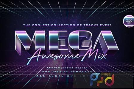 Mega - 80s Retro Text Effect 4UATWQ3 1