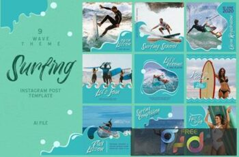 Wave Theme - Surfing Instagram Post SHQ6N4P 12