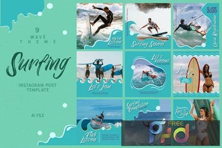 Wave Theme - Surfing Instagram Post SHQ6N4P 1