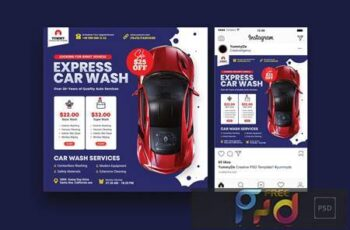Car Repair Services Square Flyer & Instagram Post 4HEUH43 5
