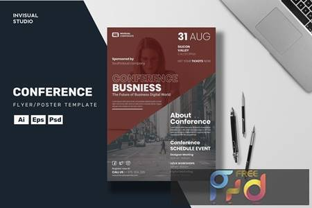 Conference Business - Flyer Template Q238MNZ 1
