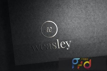 Embossed Logo Mockup P3XY36T 1