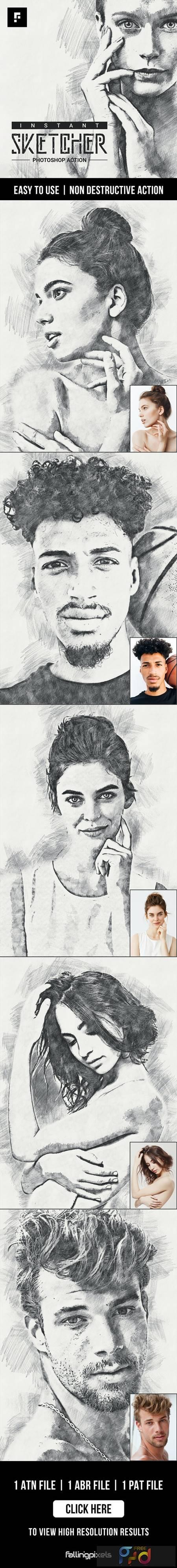 Instant Sketcher Photoshop Action 27659405 1