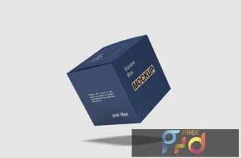 Flying Square Box Mockup KDGDKA8 2
