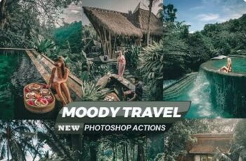 Moody Travel Blogger Photoshop Actions 26544157 3