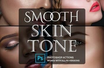 Smooth Skin Tone - Photoshop Action 26544072 3