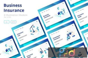 Business Insurance sets Illustration F4FP444 13