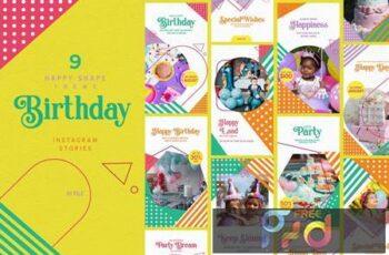 Happy Shape Theme - Birthday Instagram Stories 54CD273 10
