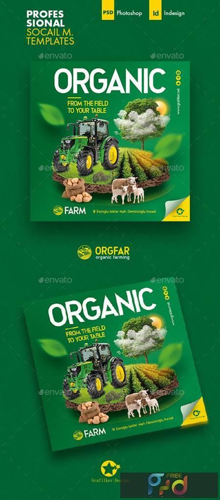 Organic Farming Social Media Templates 26498667 1