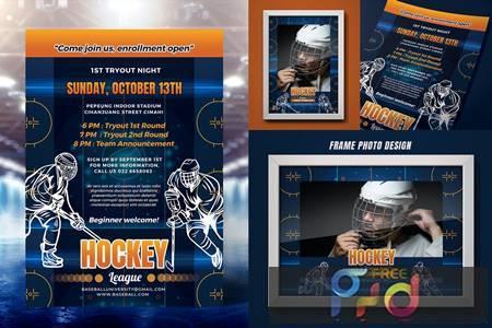Ice Hockey Tryout Flyer XJ4SWMC 1