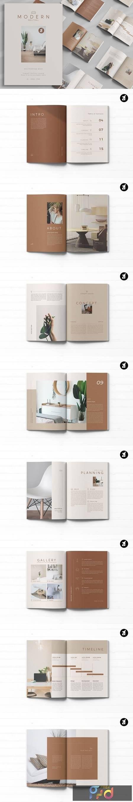 Modern neutral multi-purpose book 4981598 1