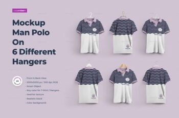 2 Mockups Man Polo On 6 Different Hangers 27688594 8