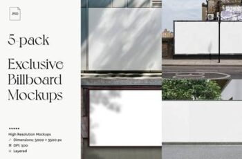 5-Pack Exclusive Billboard Mockups 5