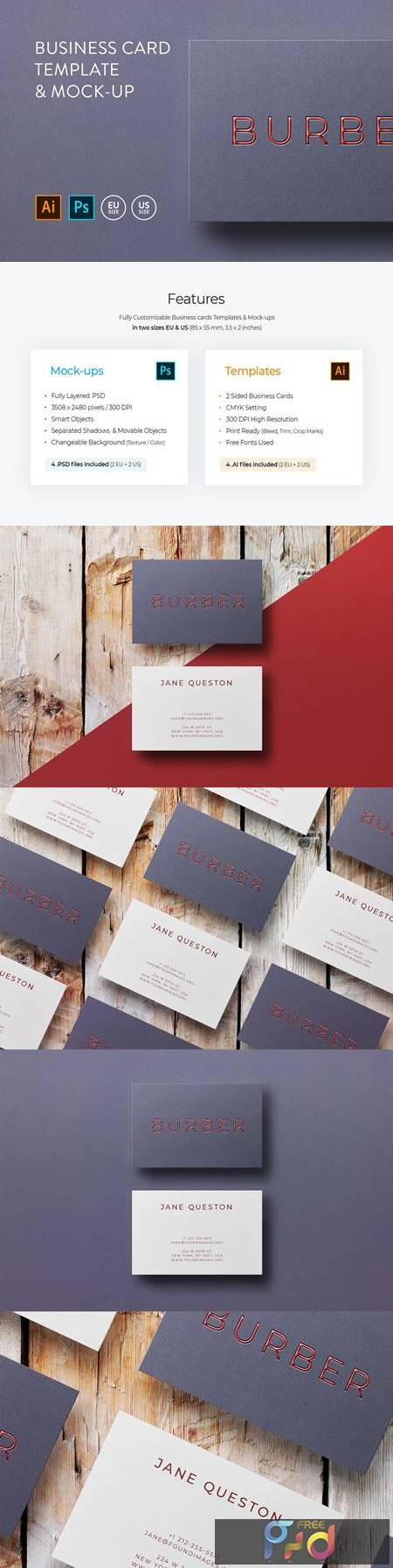 Business card Template & Mock-up #5 1
