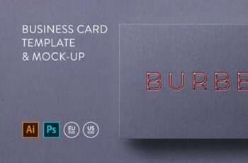 Business card Template & Mock-up #5 5