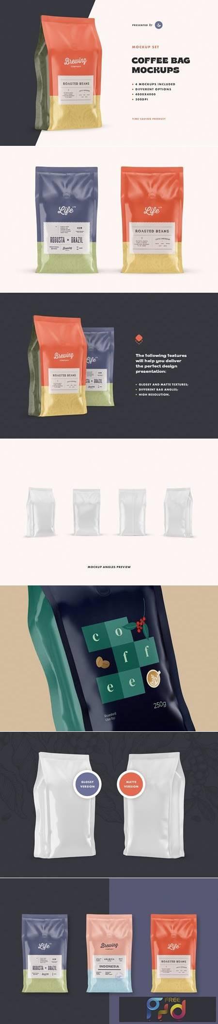 Coffee Bag Mockup Set 5186940 1