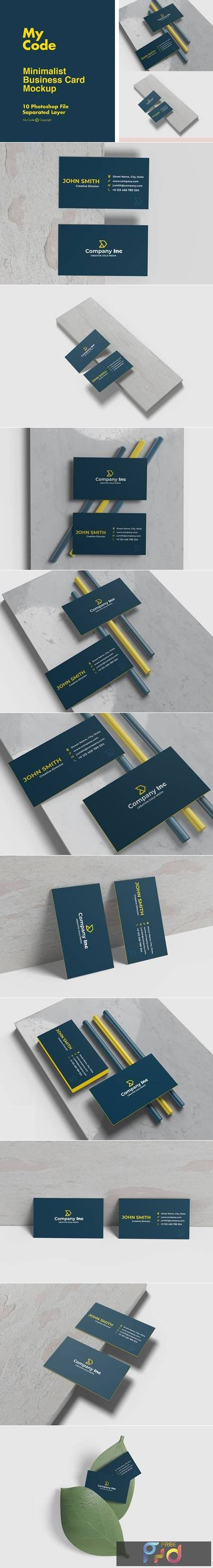 Minimalist Business Card Mockup 4924317 1