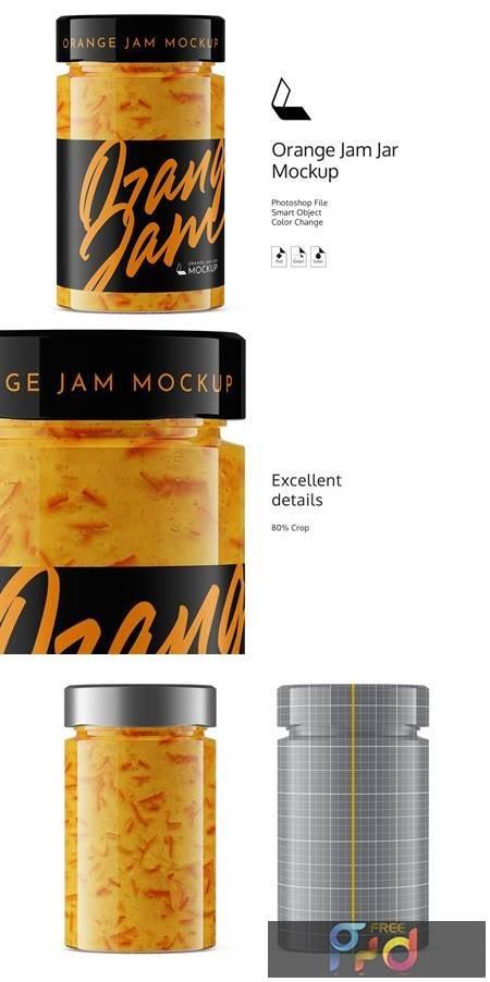 Orange Jam Jar Mockup 4931068 1