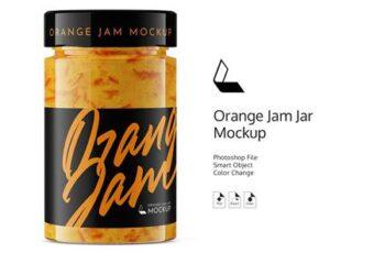 Orange Jam Jar Mockup 4931068 4