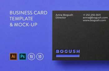 Business card Template & Mock-up #2 3