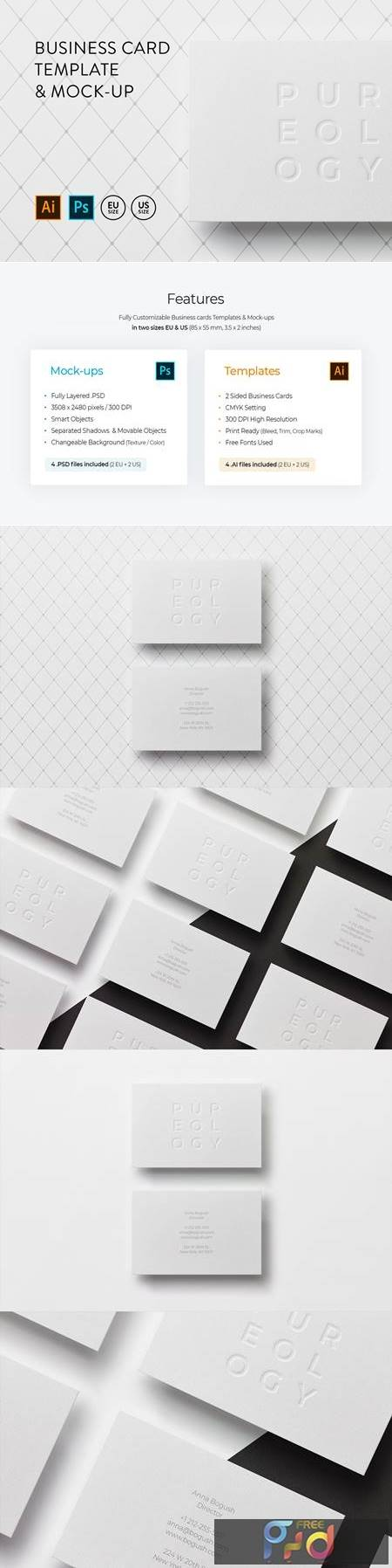 Business card Template & Mock-up #4 1