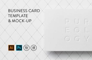 Business card Template & Mock-up #4 8
