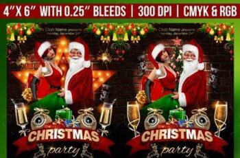 Christmas Party Flyer Template 22932172 6