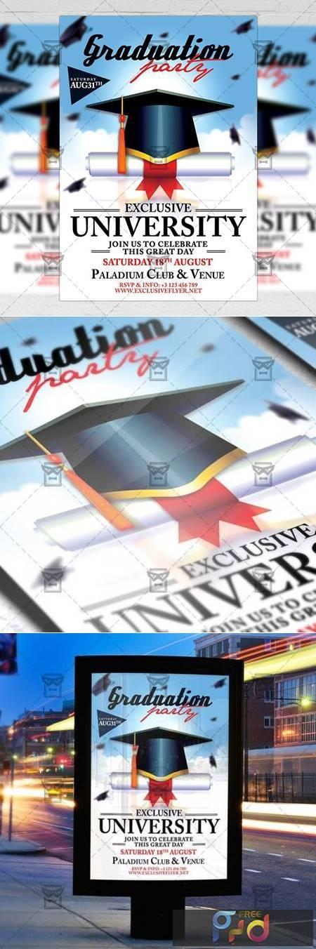 Graduation Flyer - Seasonal A5 Template 19787 1