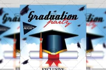Graduation Flyer - Seasonal A5 Template 19787 5
