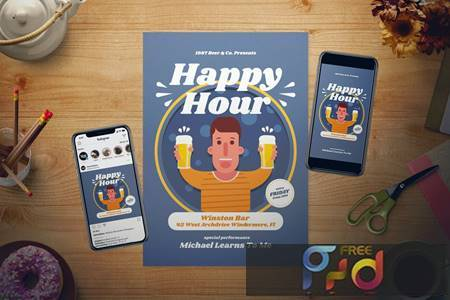Happy Hour Flyer Set VMLKGE7 1