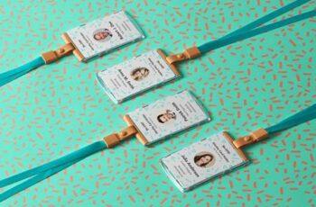 ID Card Holder Psd Mockup 1359 2