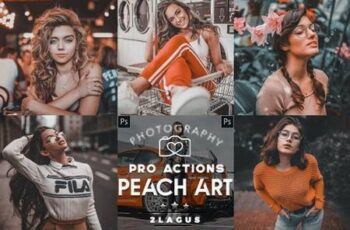 Peach ART - Life Styles Actions Photoshop 26583402 4