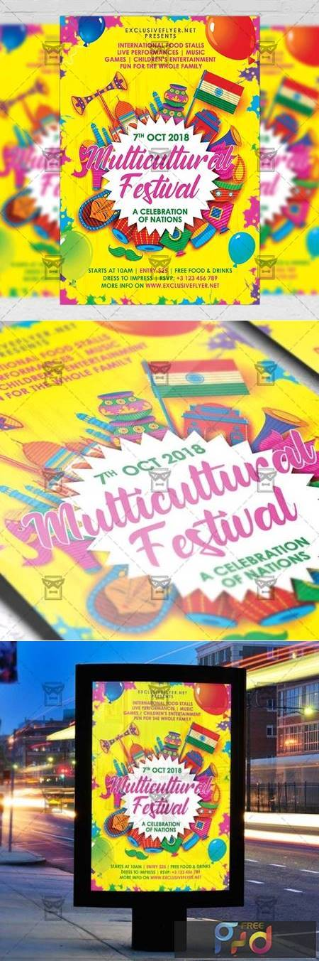 Multicultural Festival Flyer - Club A5 Template 19773 1