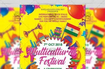 Multicultural Festival Flyer - Club A5 Template 19773 3