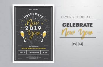 New Year 2019 Flyers 22977993 3