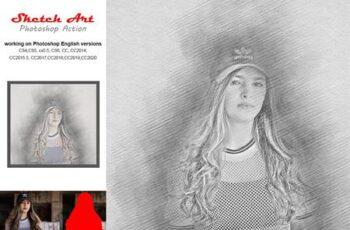 Sketch Art Photoshop Action 5244322 14