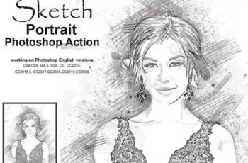 Sketch Portrait Photoshop Action 5203548 4