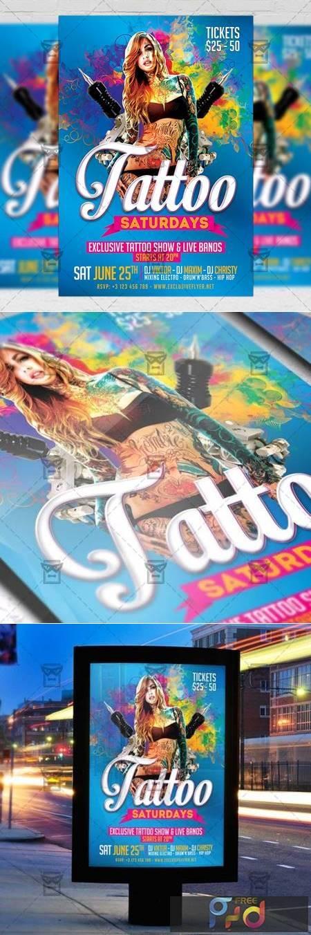 Tattoo Saturdays Flyer - Club A5 Template 19744 1