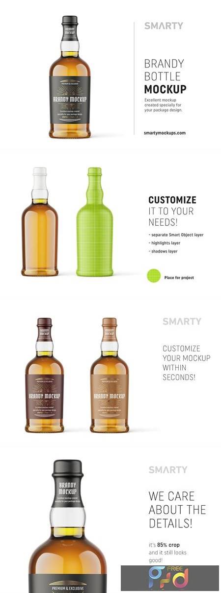 Brandy bottle mockup 4816173 1