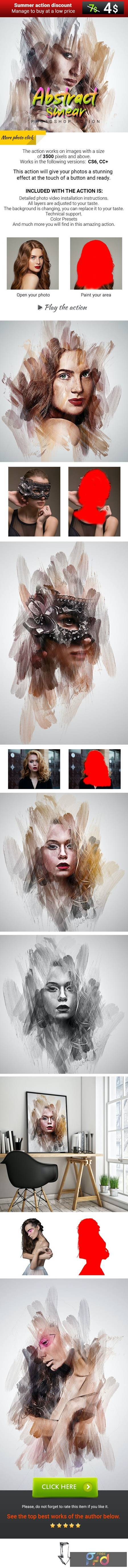 Abstract Smear Photoshop Action 27607459 1