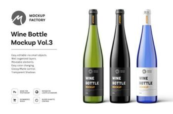 Wine Bottle Mockup Vol.3 4795148 5
