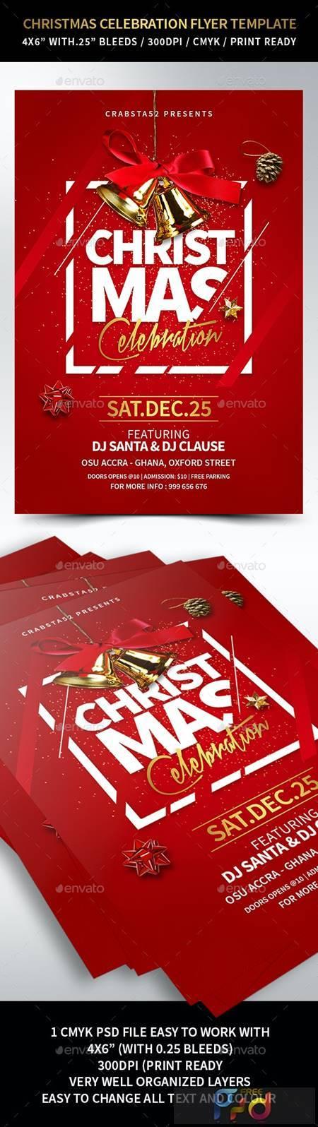 Christmas Celebration Flyer Template 22931714 1