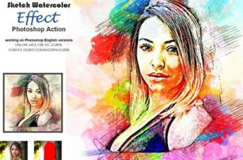 Sketch Watercolor Effect PS Action 5203559 16