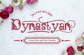 Dynastyan - 5 Font styles 5116330 8