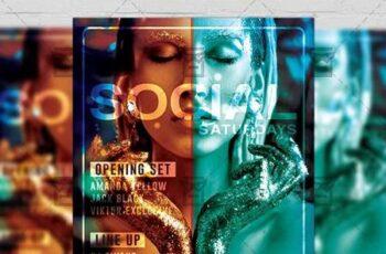 Social Saturdays Flyer - Club A5 Template 19840 7