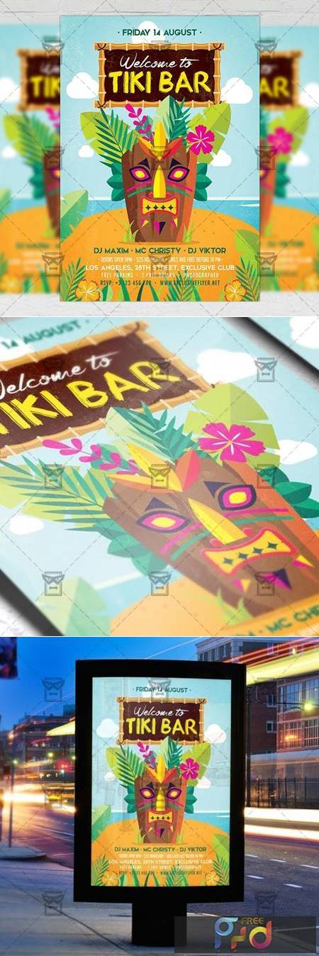 Tiki Bar Flyer - Seasonal A5 Template 19906 1
