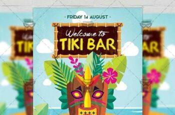 Tiki Bar Flyer - Seasonal A5 Template 19906 5